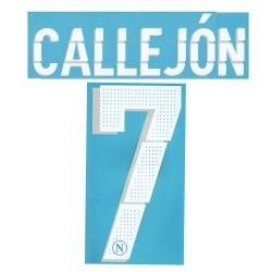 Napoli 7 Callejon nom et le numéro du maillot domicile et troisième 2014/15