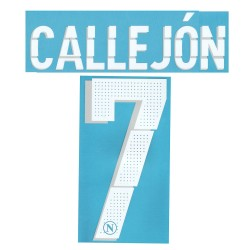 Napoli 7 Callejon's name and number home shirt & third 2014/15