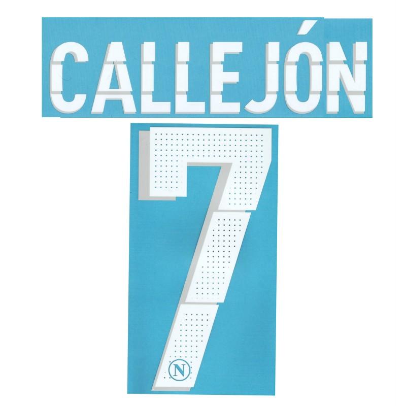 Napoli 7 Callejon nome e numero maglia home & third 2014/15