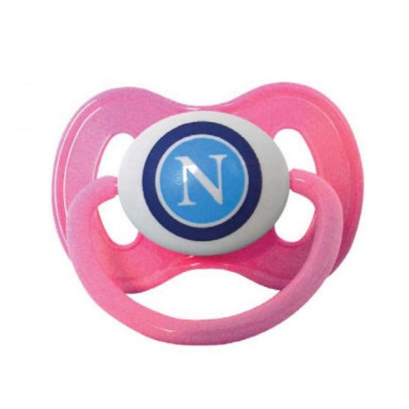Napoli ciuccio neonato rosa baby prodotto ufficiale