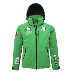 FISI Chaqueta 6cento 650 de Esquí Verde Kappa