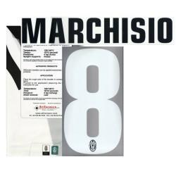 Juventus FC 8 Marchisio nome e numero maglia home 2012/13