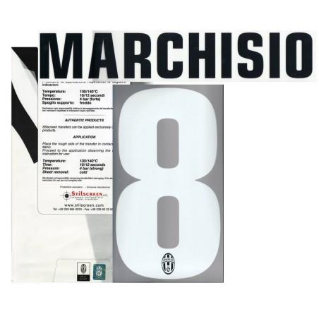 Juventus FC 8 Marchisio name und nummer auf trikot home 2012/13
